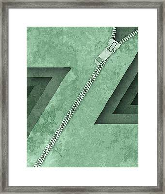 Abstract Z Framed Print by Vanessa Bates