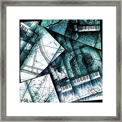 Abstracta 28 Emerald Cadenza Framed Print by Gary Bodnar