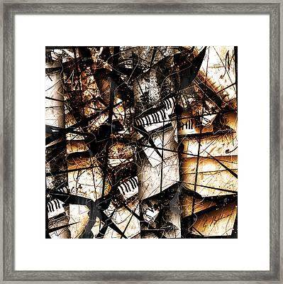 Abstracta 34 Scherzo In Orange Framed Print by Gary Bodnar