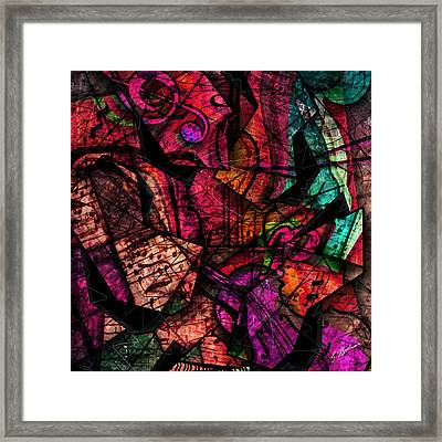 Abstracta_11 Cacophony In Z Minor Framed Print by Gary Bodnar