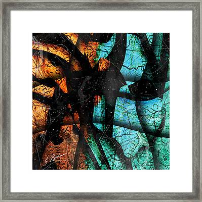 Abstracta_13 Patmos Framed Print by Gary Bodnar