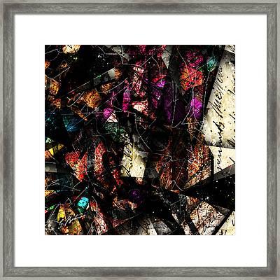 Abstracta_16 Tapestry Framed Print by Gary Bodnar