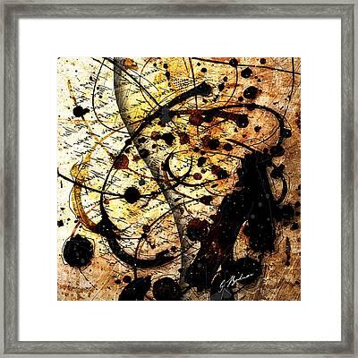 Abstracta_17 Antiqua Framed Print by Gary Bodnar