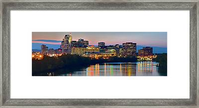 Hartford Connecticut Panorama Framed Print by Frozen in Time Fine Art Photography