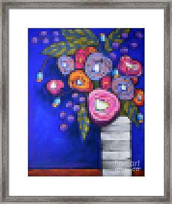 Abstracted Flowers - 2 Framed Print by David Hinds