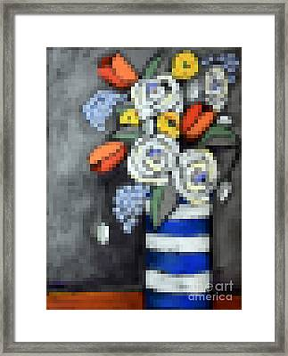 Abstracted Flowers - 3 Framed Print