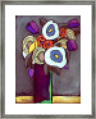 Abstracted Flowers - 4 Framed Print