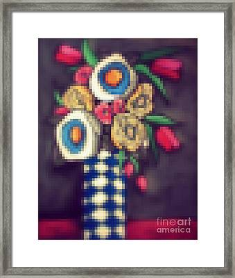 Abstracted Flowers- 5 Framed Print by David Hinds