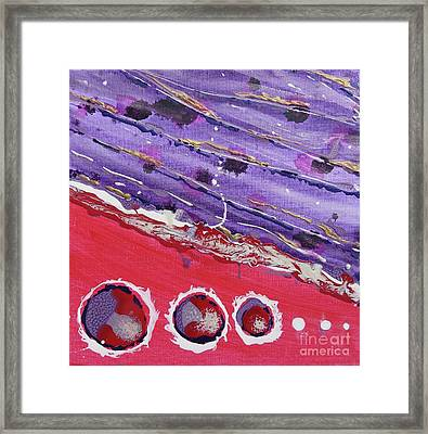 Abstracted Opposites Framed Print by Desiree Paquette