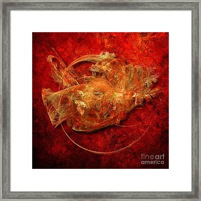 Framed Print featuring the digital art Abstractfantasy No. 1 by Alexa Szlavics