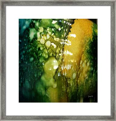 Abstraction And Brain  Framed Print by Fania Simon