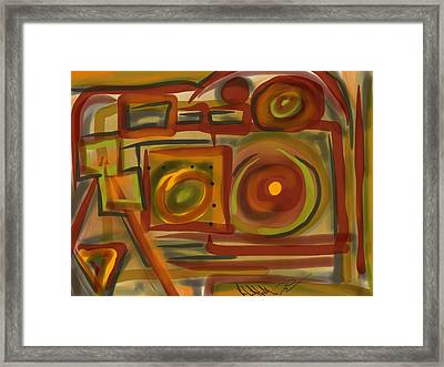 Abstraction Collect 4 Framed Print