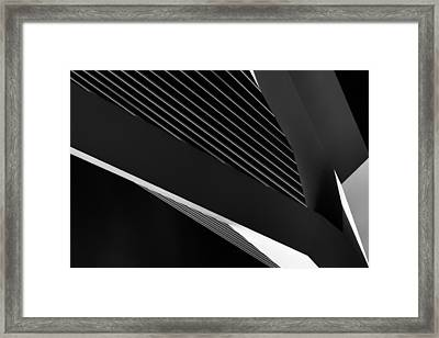 Abstraction Of A Swan Framed Print by Jeroen Van De Wiel