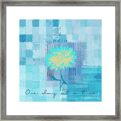Abstractionnel - 29grfl3c -blue01 Framed Print by Variance Collections