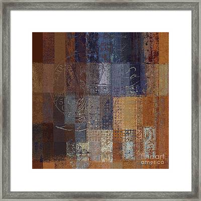 Abstractionnel - Vc2j-043121140b Framed Print by Variance Collections
