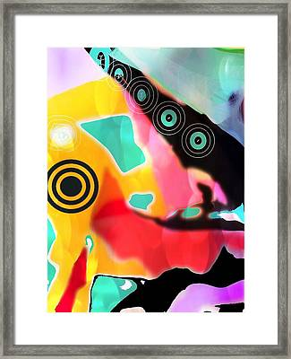 Abstractly Circular Framed Print