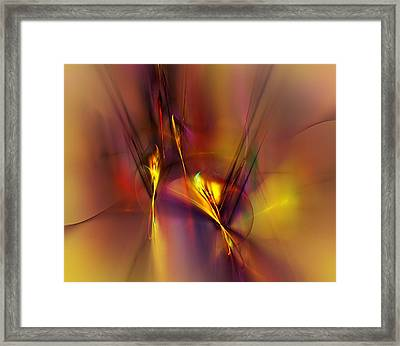 Abstracts Gold And Red 060512 Framed Print
