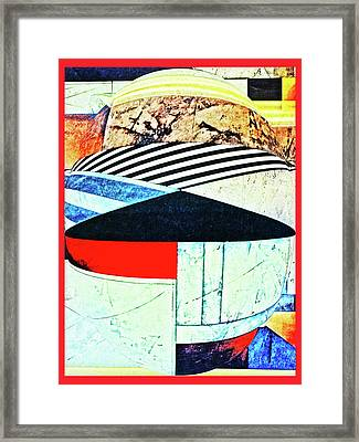 Abstracts On Red Framed Print by Bruce Iorio
