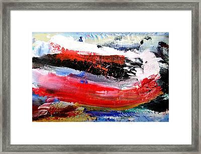 Abstraktes Bild 25 Framed Print by Eckhard Besuden
