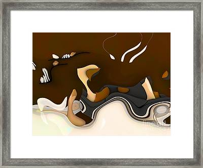 Abstrakto - 55b1 Framed Print
