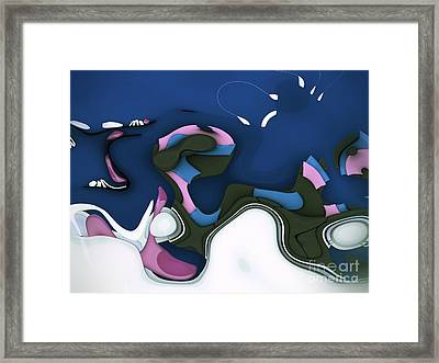 Abstrakto - 55ct1 Framed Print by Variance Collections