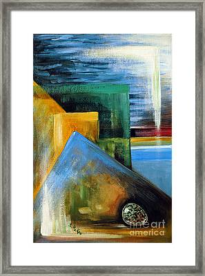 Abstrct And A Plover Egg Framed Print by Suzanne McKee