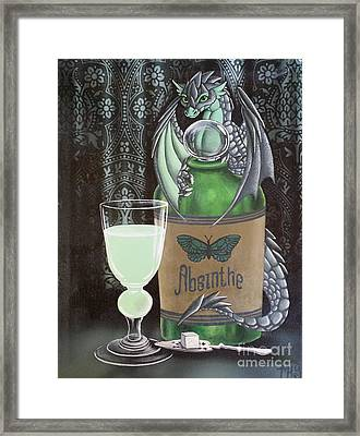 Absinthe Dragon Framed Print