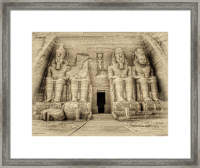 Abu Simbel Antiqued Framed Print