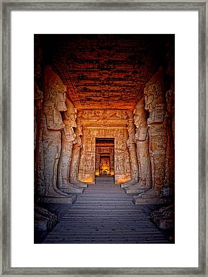 Abu Simbel Great Temple Framed Print