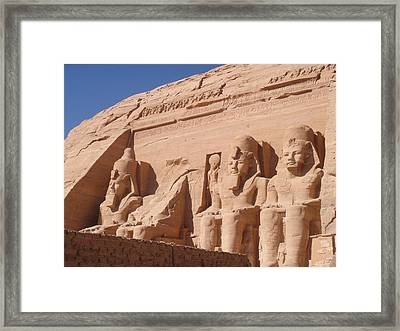 Abu Simbel Framed Print
