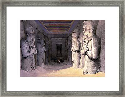Abu Simbel Temple, 1838 Framed Print by Science Source