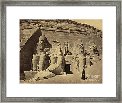 Abu Simbel Temple, 1850s Framed Print by Science Source