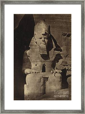 Abu Simbel Temple, 1862 Framed Print by Science Source