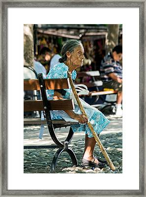 Abuela En Suchitoto 1 Framed Print by Totto Ponce