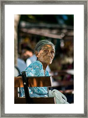 Abuela En Suchitoto 2  Framed Print by Totto Ponce