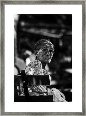Abuela En Suchitoto 3 Framed Print by Totto Ponce
