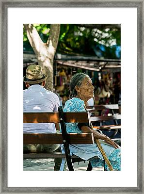 Abuela En Suchitoto Framed Print by Totto Ponce