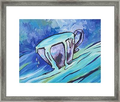 Abundance - My Cup Runneth Over Framed Print by Sandy Tracey
