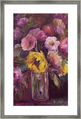Abundance- Floral Painting Framed Print