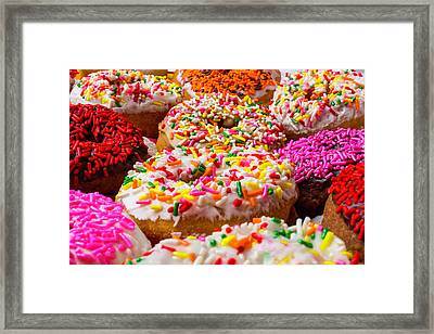 Abundance Of Donuts Framed Print by Garry Gay