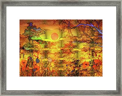 Framed Print featuring the painting Abundance by Valerie Anne Kelly