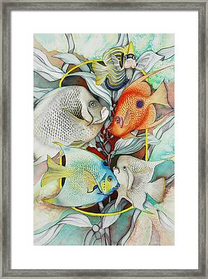 Abundant On The Reef Framed Print by Liduine Bekman