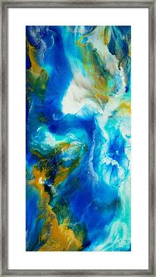 Framed Print featuring the painting Abyss  by Christie Minalga