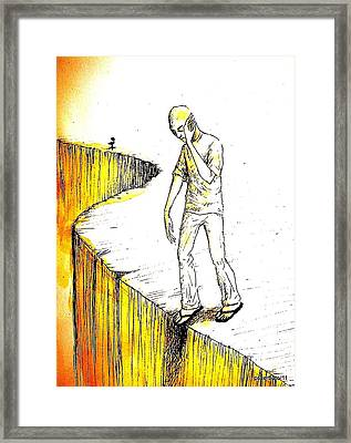 Abyss Psychological Framed Print by Paulo Zerbato