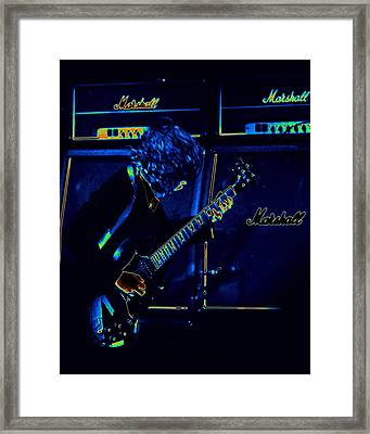 Ac Dc Electrifies The Blues Framed Print