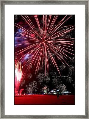 Ac Fireworks Framed Print