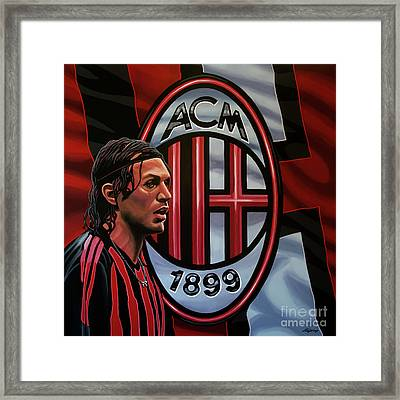 Ac Milan Painting Framed Print