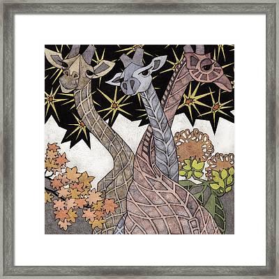 Acacia Eaters Framed Print