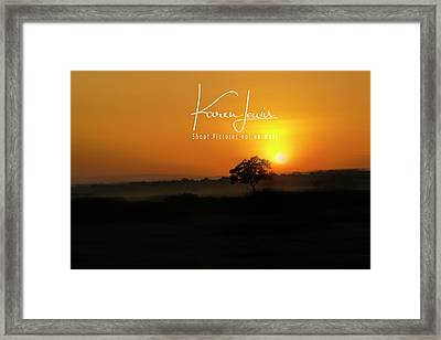 Framed Print featuring the photograph Acacia Tree Sunrise by Karen Lewis
