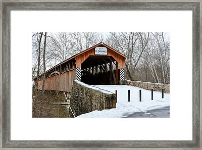 Academia Covered Brigde Framed Print